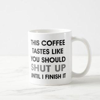 Kaffesmaker gillar dig bör stänga upp den Grumpy Vit Mugg