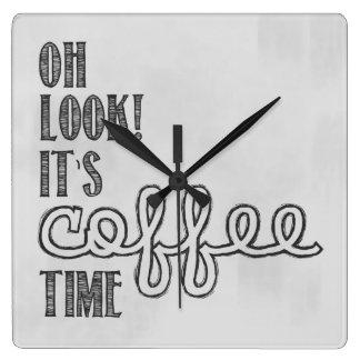 Kaffestämpelur Fyrkantig Klocka