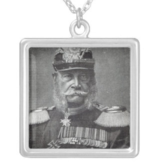 "Kaiseren Wilhelm, från ""fritidtimme"", 1888 Silverpläterat Halsband"