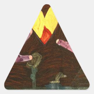 Kaitlyn RÄCKER Art1569a1a de MUSEUMZazzle gåvorna Triangle Sticker