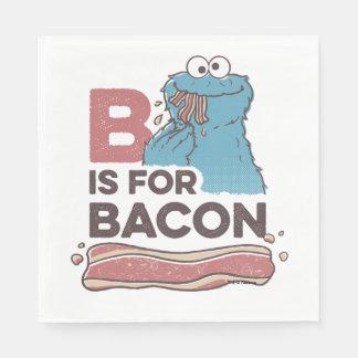 Kakamonster | B är för bacon Servett