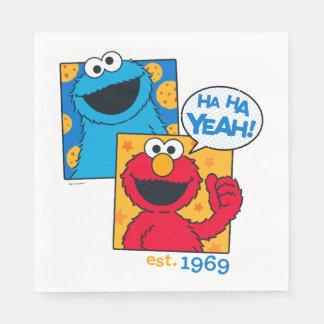 Kakamonster & Elmo | Ha Ha Yeah Papper Servett