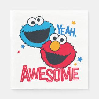 Kakamonster & Elmo | Yeah, I-förmiddagfantastisk Servetter