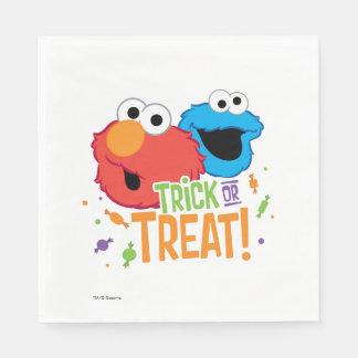 Kakamonster och Elmo - bus eller godis Pappersservett