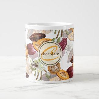 Kakaobönor, chokladblommor, naturs gåvor jumbo mugg