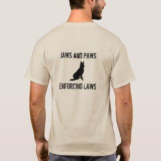 Käke- och tassskjorta tee shirt