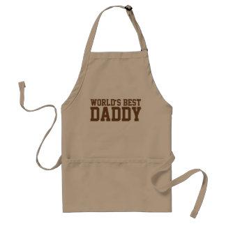 Kaki- och bruntvärlds bäst pappa förkläde