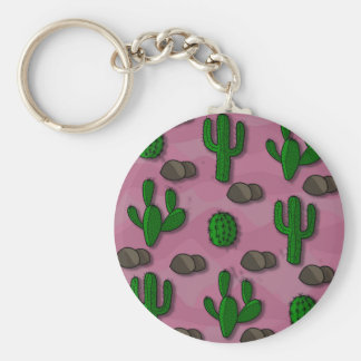 Kaktus 2 rund nyckelring
