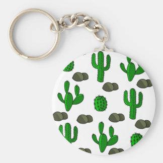 Kaktus 3 rund nyckelring