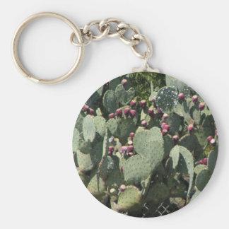 Kaktus för Prickly Pear Rund Nyckelring