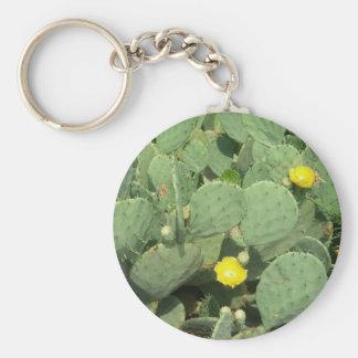 Kaktus Keychain Rund Nyckelring