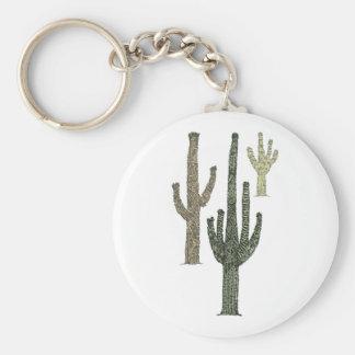 Kaktus Rund Nyckelring