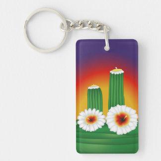 Kaktusblommar Nyckelring