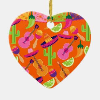 Kaktusen för Fiestapartysombreroen kalkar peppar Julgransprydnad Keramik