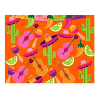 Kaktusen för Fiestapartysombreroen kalkar peppar Vykort