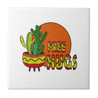 Kaktusen - frigör kramar liten kakelplatta