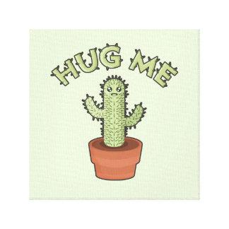 Kaktusen kramar mig canvastryck