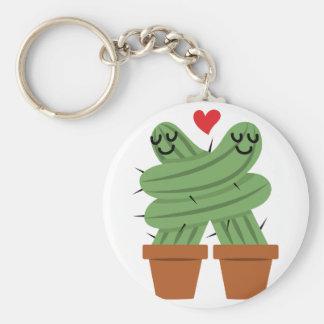 Kaktuskärlek Rund Nyckelring