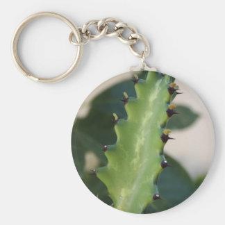 Kaktuslöv Rund Nyckelring