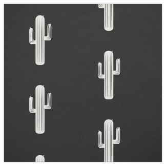 Kaktustryck i svartvitt tyg