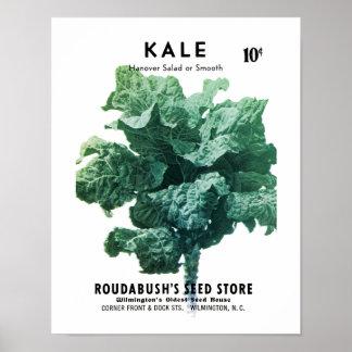 Kale kärnar ur paketetiketten poster