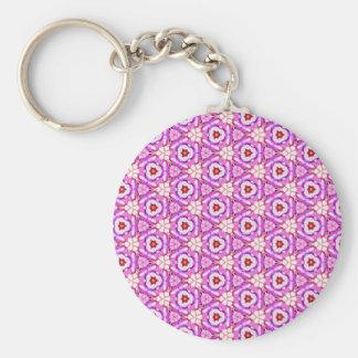 Kaleido Keychain 001 - Cutely rosor Rund Nyckelring