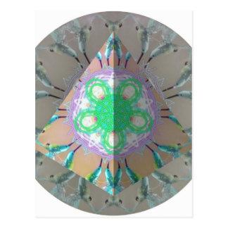 Kaleidoscope 3d för triangelsurrfågel vykort