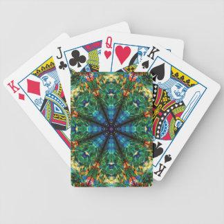 Kaleidoscope av färger spelkort