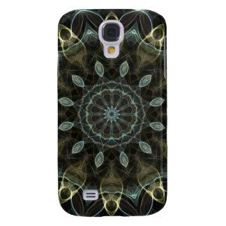 Kaleidoscope för Wooly grönt- och blåttroyal Galaxy S4 Fodral