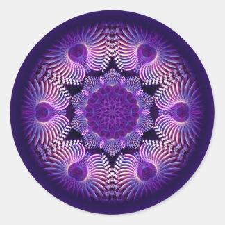 KaleidoscopeApophysisblomma mig Runt Klistermärke