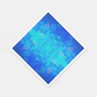Kaleidoscopeblått/aquaservetter Pappersservetter