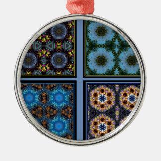 KaleidoscopeCollage förundra sig Julgransprydnad Metall