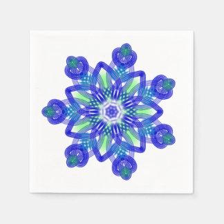 Kaleidoscopeconflowerblått Servett