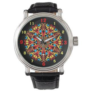 Kaleidoscopedesignarmbandsuret med numrerar armbandsur