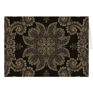 KaleidoscopeKreations svart Tapestry 3 Hälsningskort