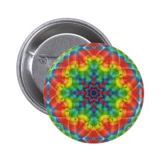 Kaleidoscopic luftballong 4 standard knapp rund 5.7 cm