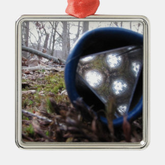 Kaleidoscopic skog julgransprydnad metall