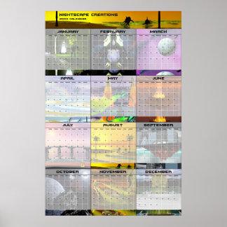 Kalender 2003 för Nightscape skapelsevägg v1 Affisch