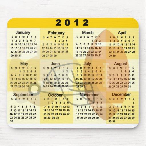 Kalender 2012 med FOTBOLLtrycket Musmatta