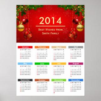 Kalender 2014 med bäst önskemålanpassningsbartext affischer