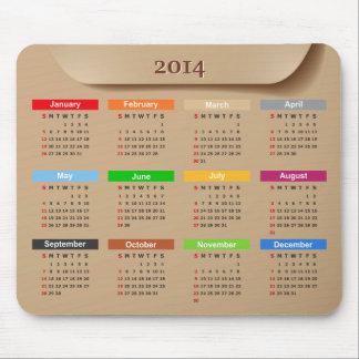Kalender 2014 med kall Kraft pappersstil | Mus Mattor