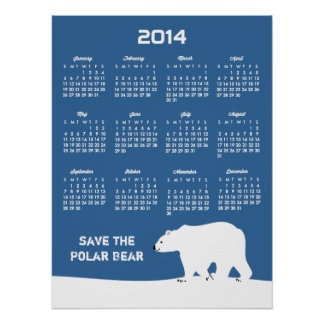 Kalender 2014 - spara de polara björnarna affischer