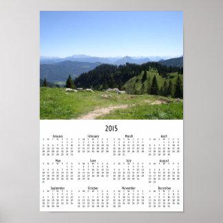 Kalender 2015 för bergslingavägg poster