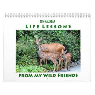 Kalender 2016 för livkursdjur