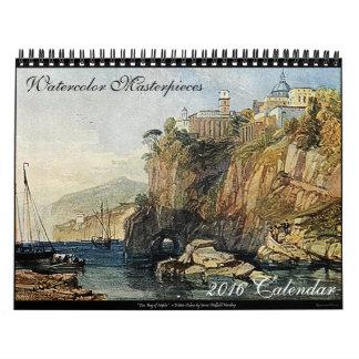Kalender 2016 för vattenfärgmästerverkkonst