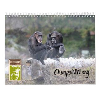Kalender 2018 för den Northwest schimpansfristaden