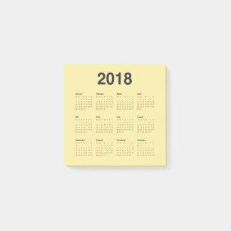 Kalender 2018 post-it lappar