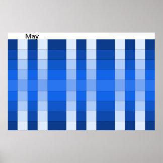 Kalender 5 för maj för månad för poster