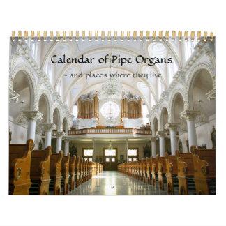 Kalender av Pipe organ och var de bor