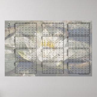 Kalender för 2012 affisch - näckros